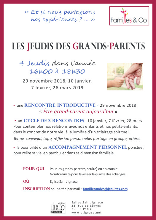 Parcours grands Parents 2018 2019