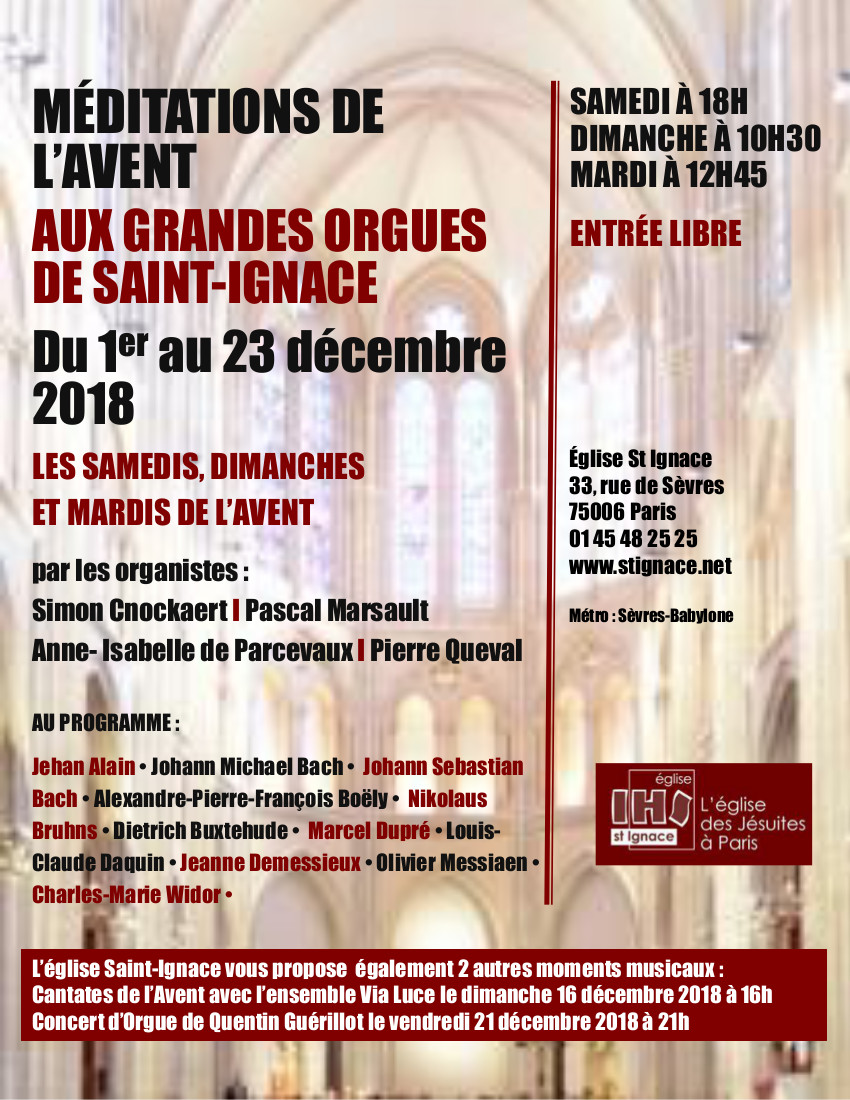 Affiche mditations de lAvent Df 2018
